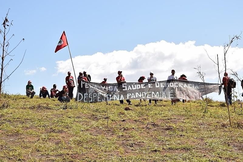 quilombo campo grande, faixa, acampamento