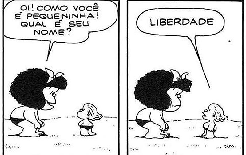 tirinha da Mafalda