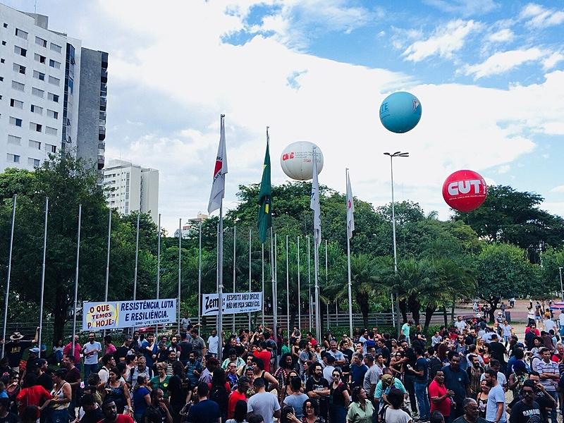 Manifestação, professores, ALMG