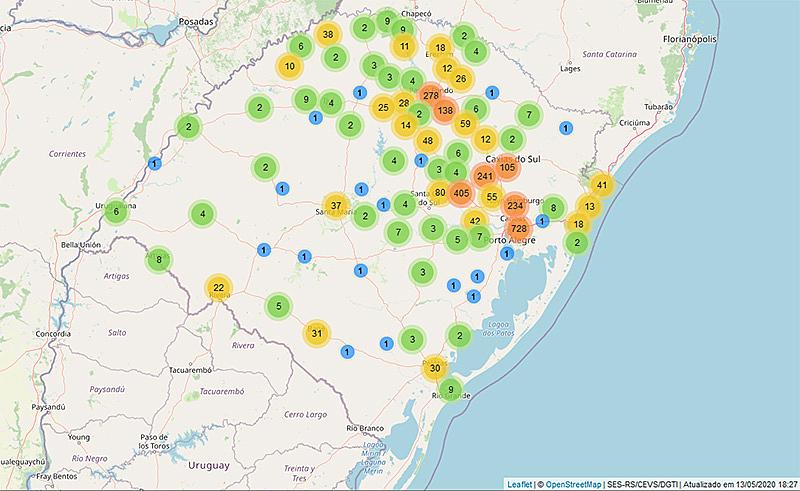 Rio Grande do Sul tem 120 óbitos e quase 3 mil infectados | Variedades
