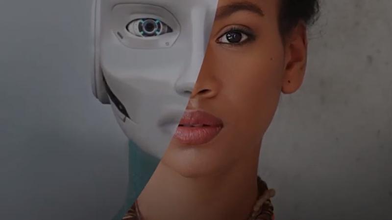 mulher, robô